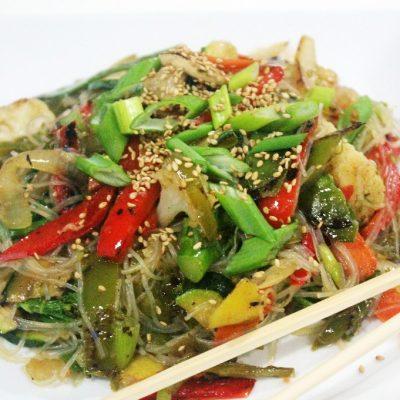 wok de verduras con fideos de soja11