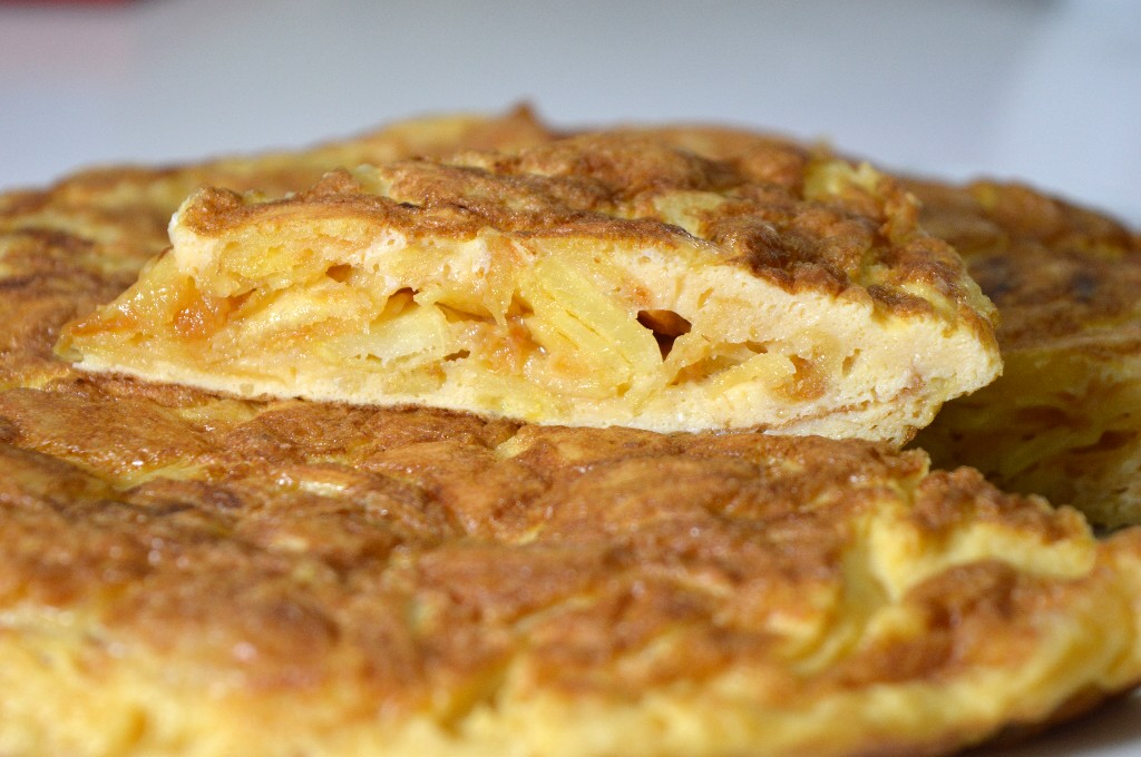 Tortilla de patatas crujientes